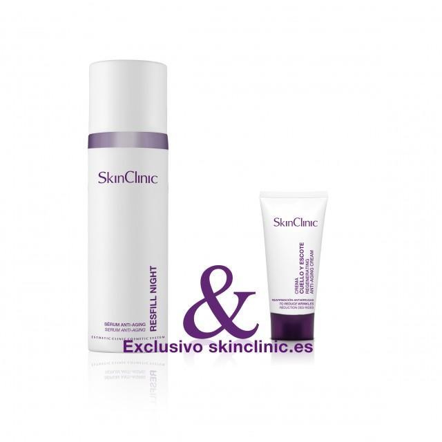 Sérum iluminador reafirmante de noche. Prevención y tratamiento de arrugas.