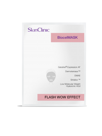 Mascarilla de biocelulosa con efecto lifting inmediato