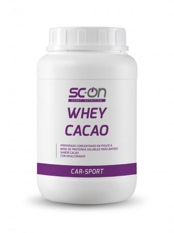 Preparado concentrado en polvo a base de proteínas solubles para batido con sabor cacao. Con edulcorante.